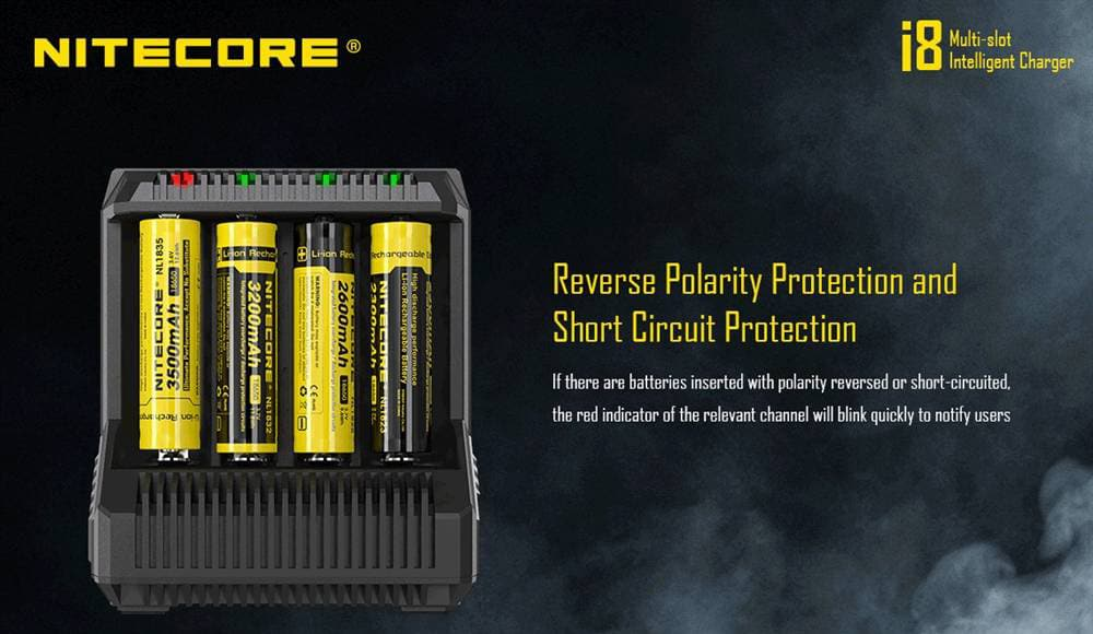 nitecore i8 smart quick charger