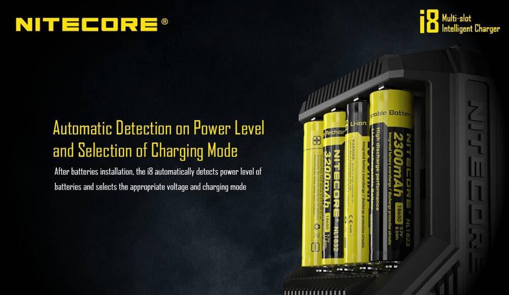 nitecore i8 smart battery charger