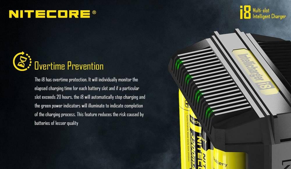 nitecore i8 8 bays smart charger