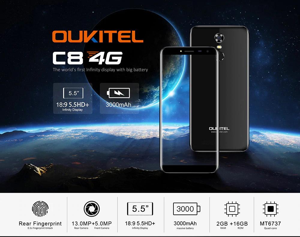 oukitel c8 4g smartphone