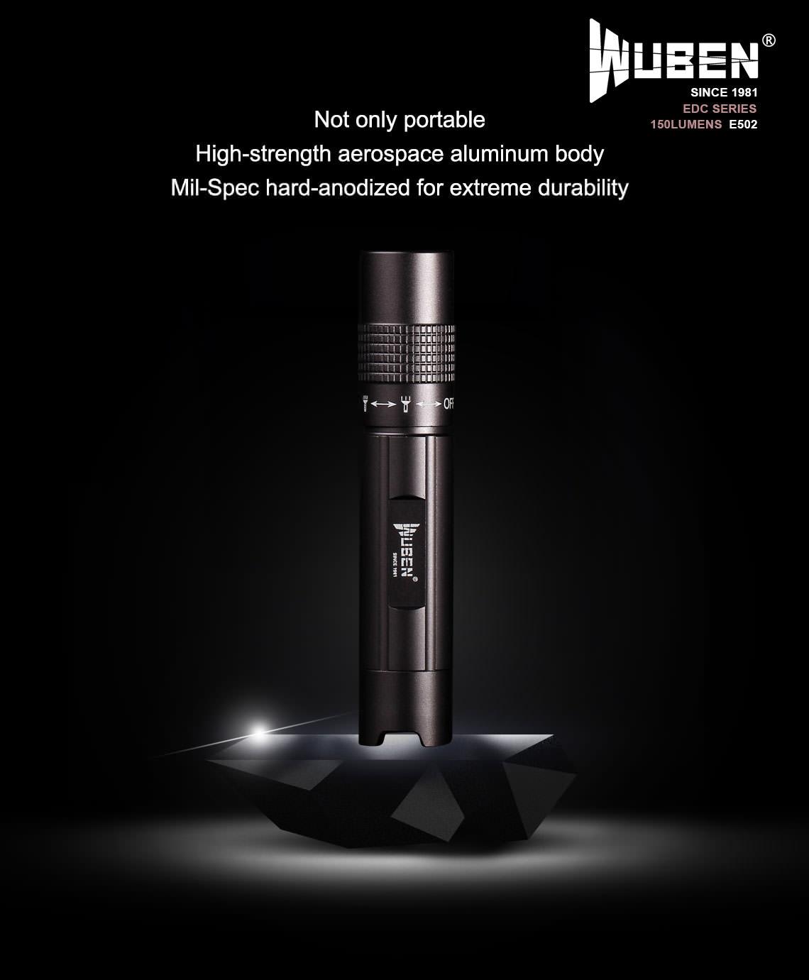 wuben e502 led flashlight