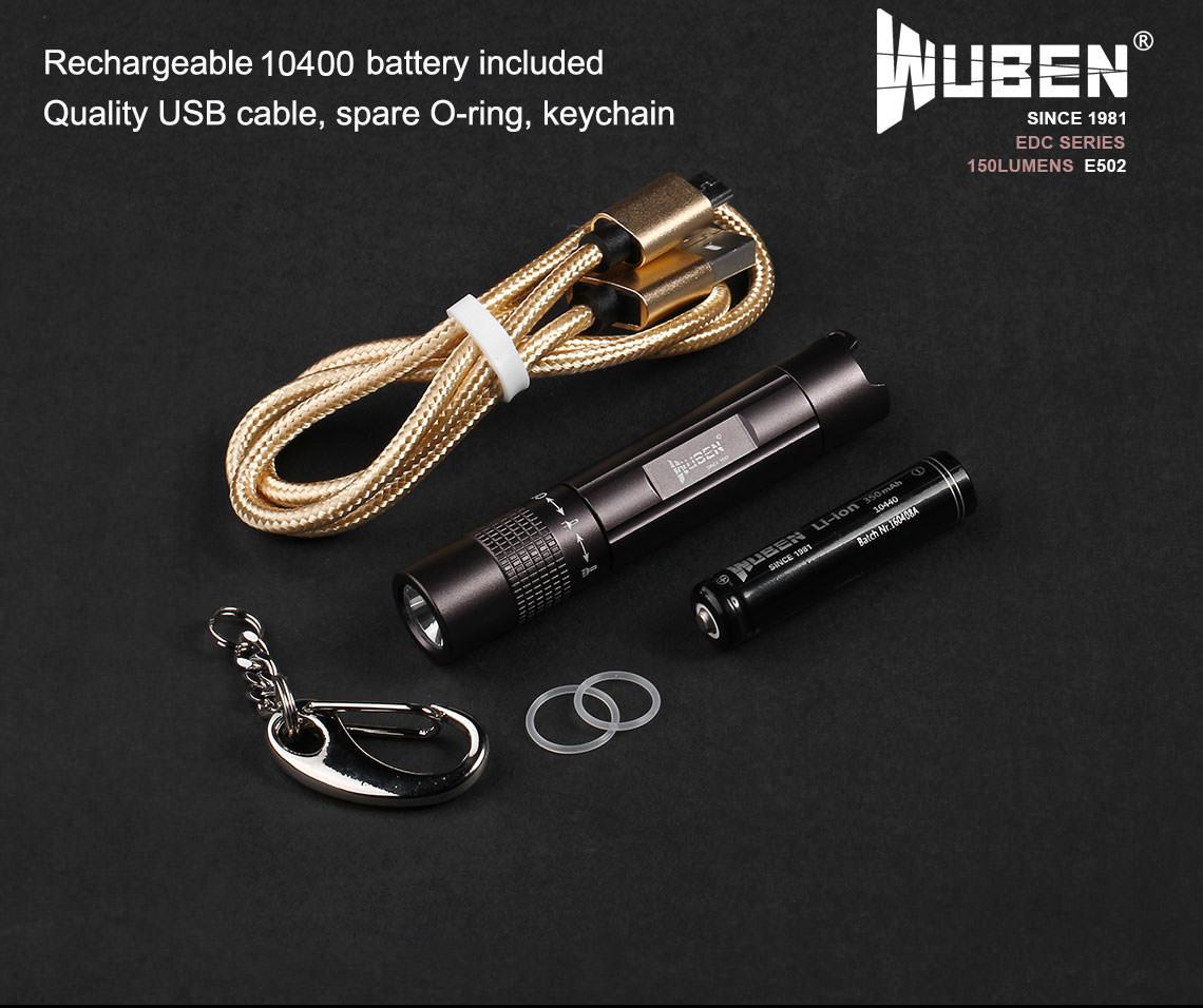 wuben e502 mini flashlight