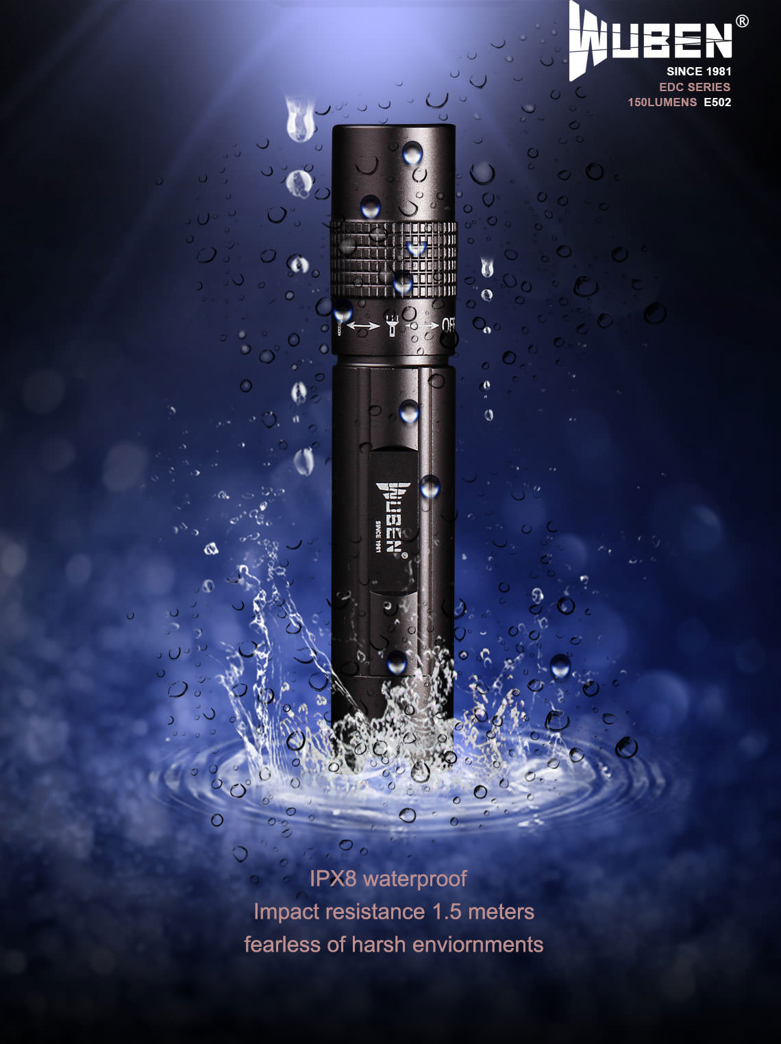 buy wuben e502 led flashlight