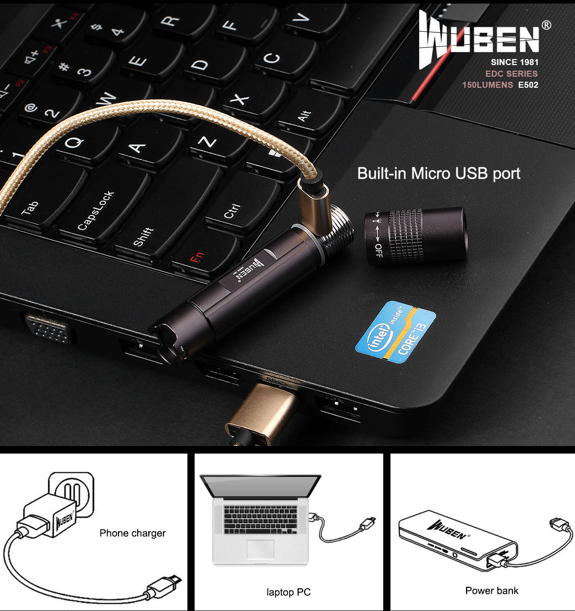 wuben e502 flashlight online