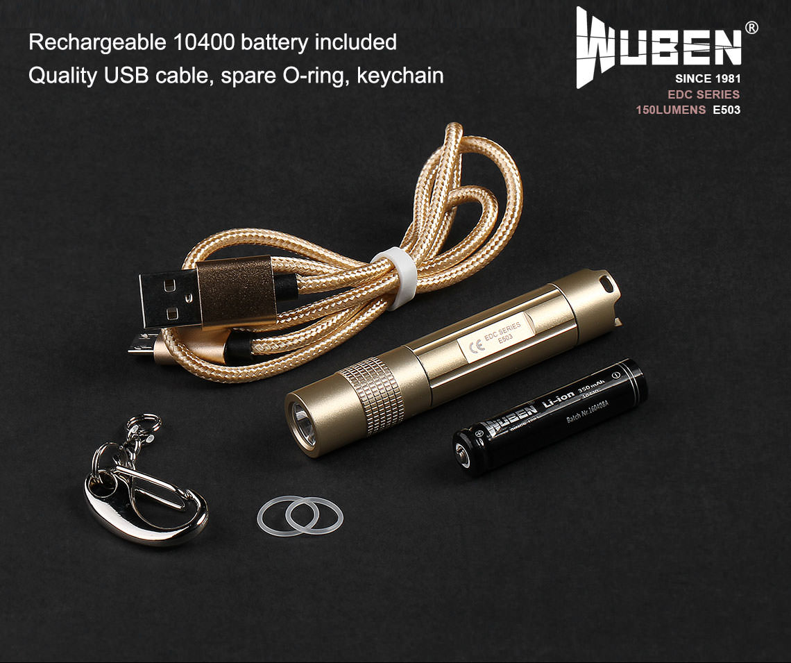 wuben e503 keychain flashlight