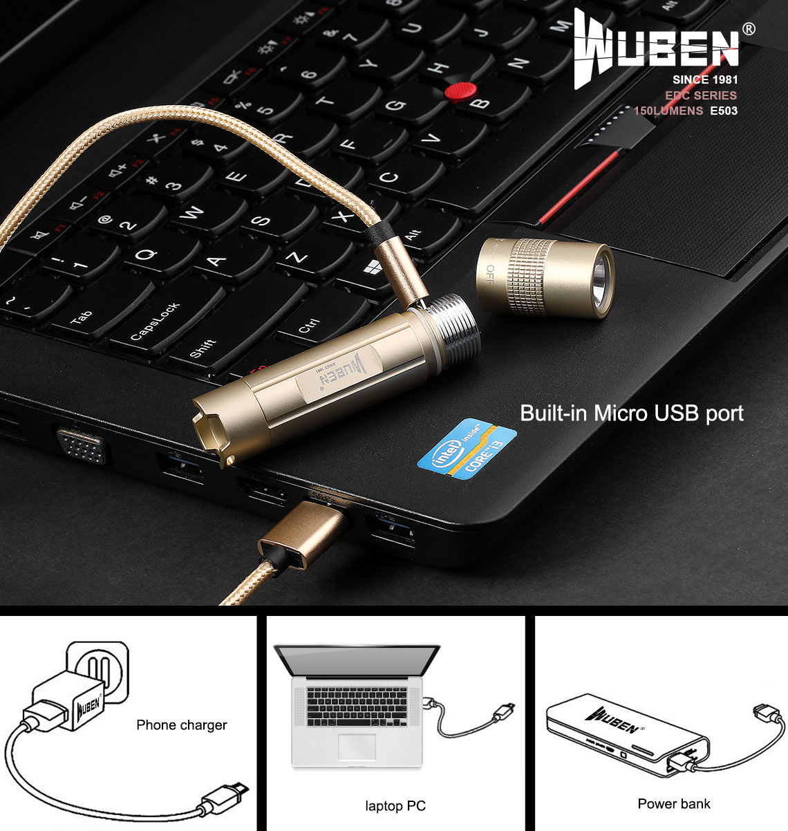 wuben e503 flashlight
