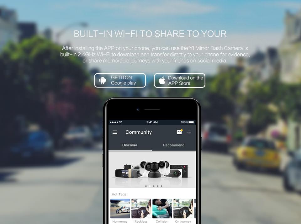 yi mirror dash camera online
