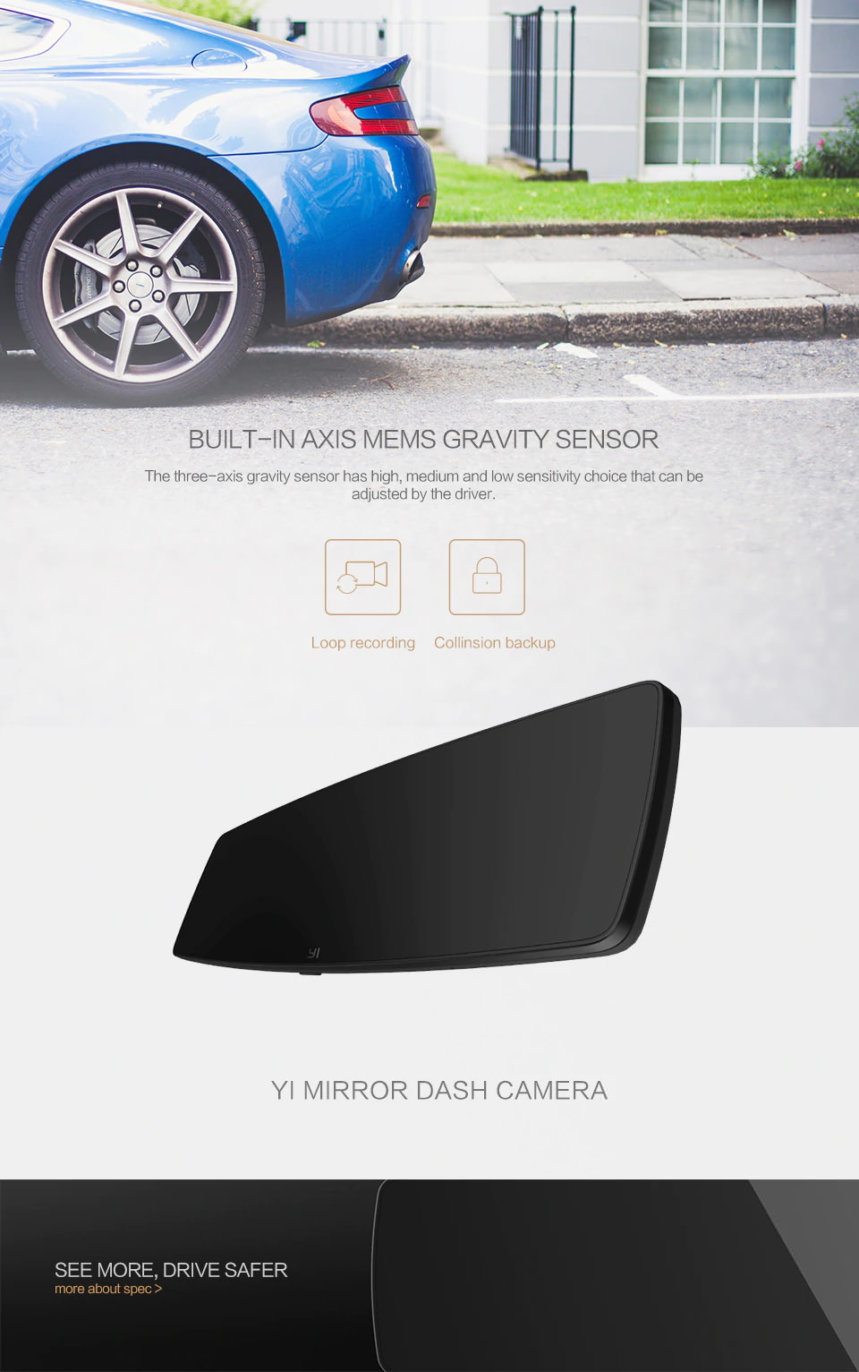 yi mirror dash cam price