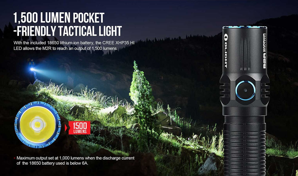 olight m2r warrior led flashlight