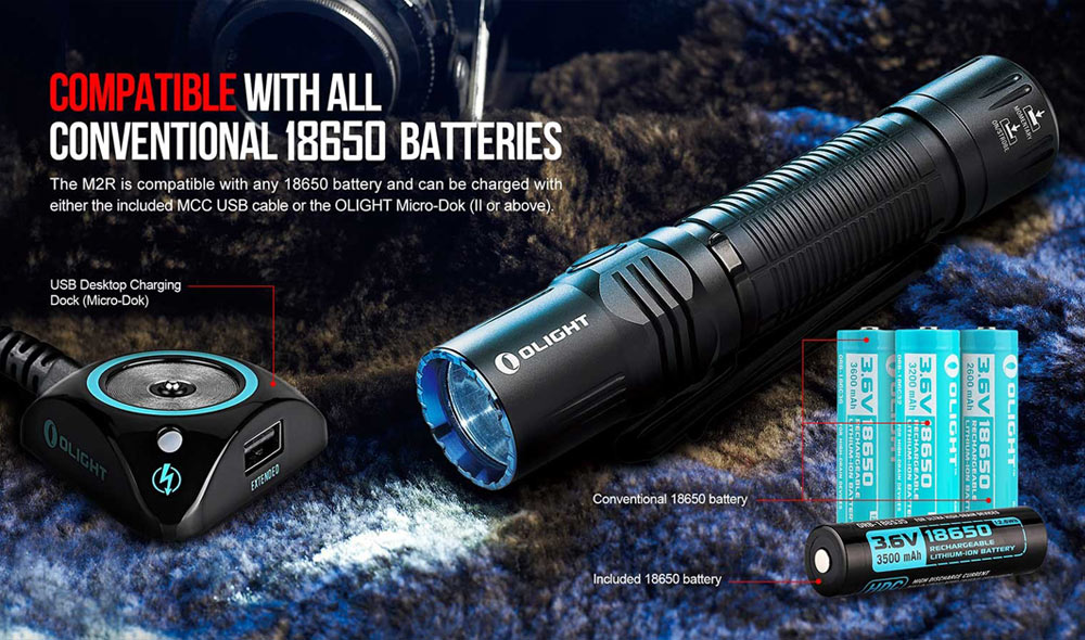 olight m2r warrior tactical flashlight