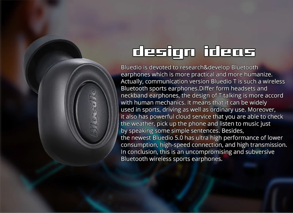 buy bluedio t-talking earbud