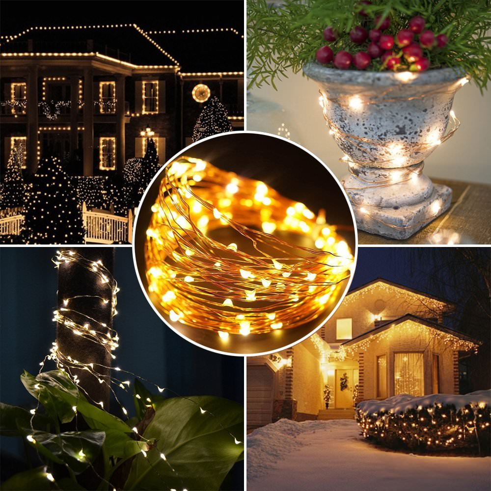 buy solar panel led string light