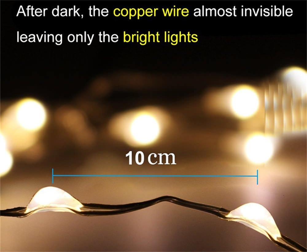 solar panel led string light