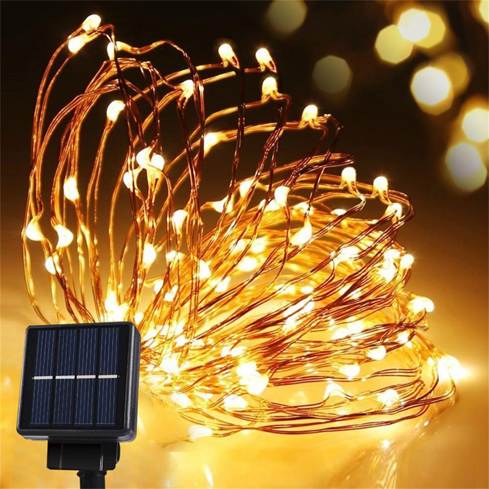 solar panel christmas string light