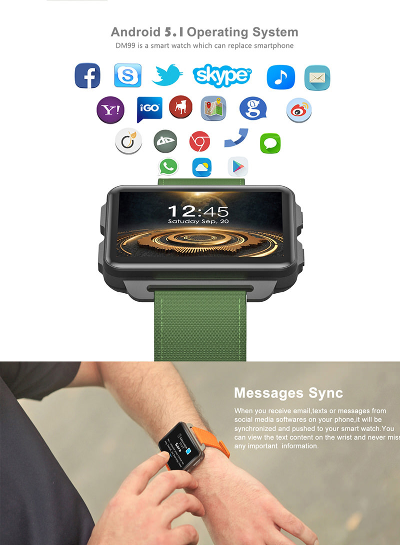 domino dm99 3g smartwatch