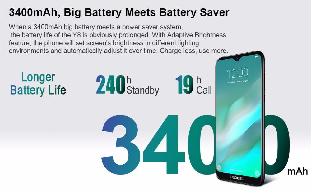 2019 doogee y8 smartphone
