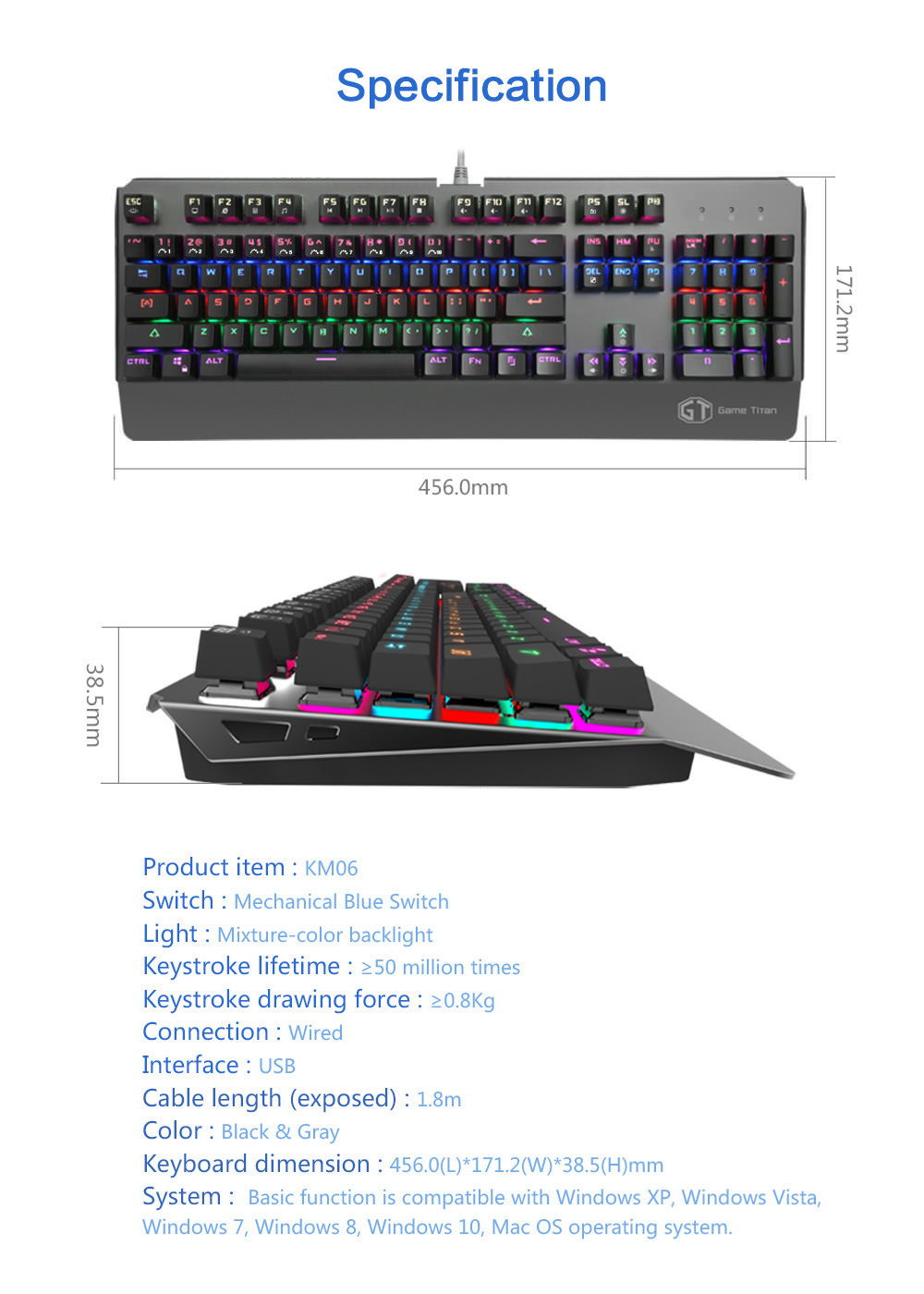 delux km06 gaming keyboard online