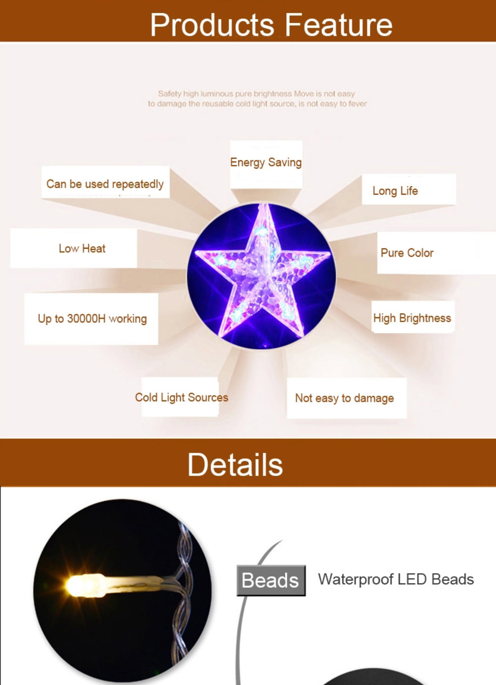 outdoor led star string lights online