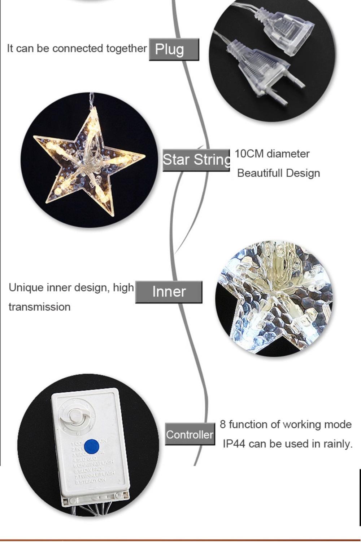 buy outdoor led star string lights