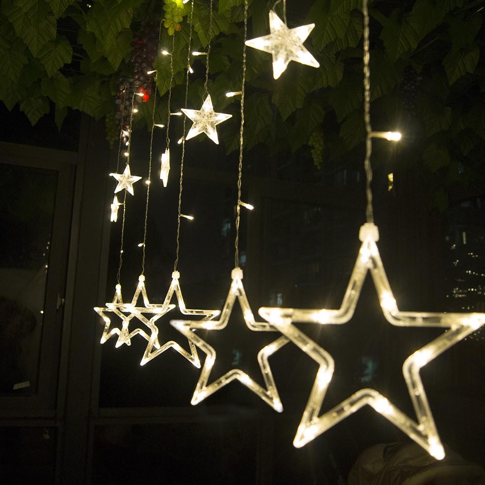 star decoration led string lights