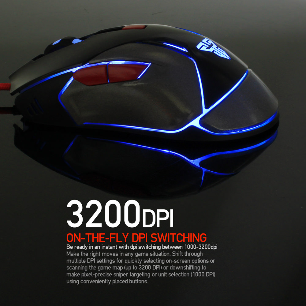 buy fantech v5 wired mouse
