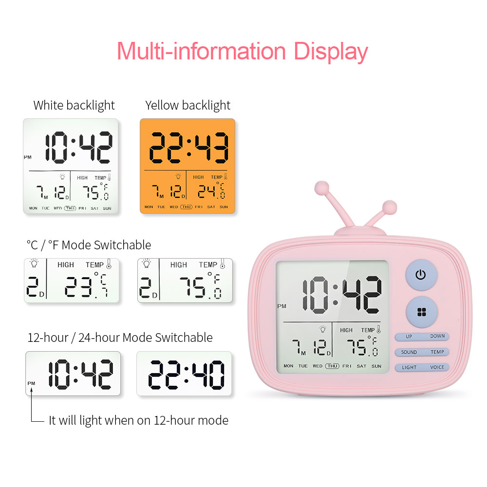 cheap lja-001 tv alarm clock