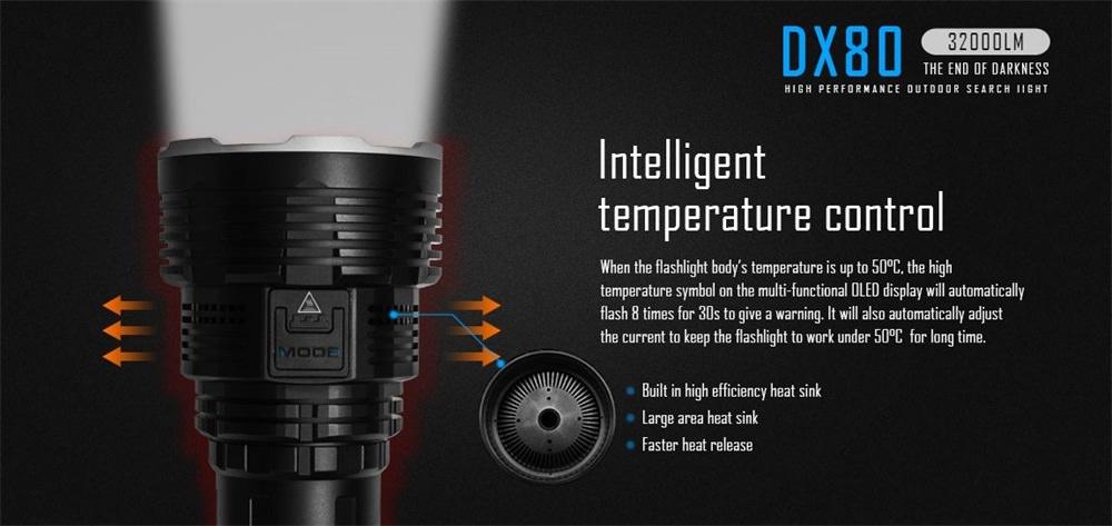 imalent dx80 led flashlight