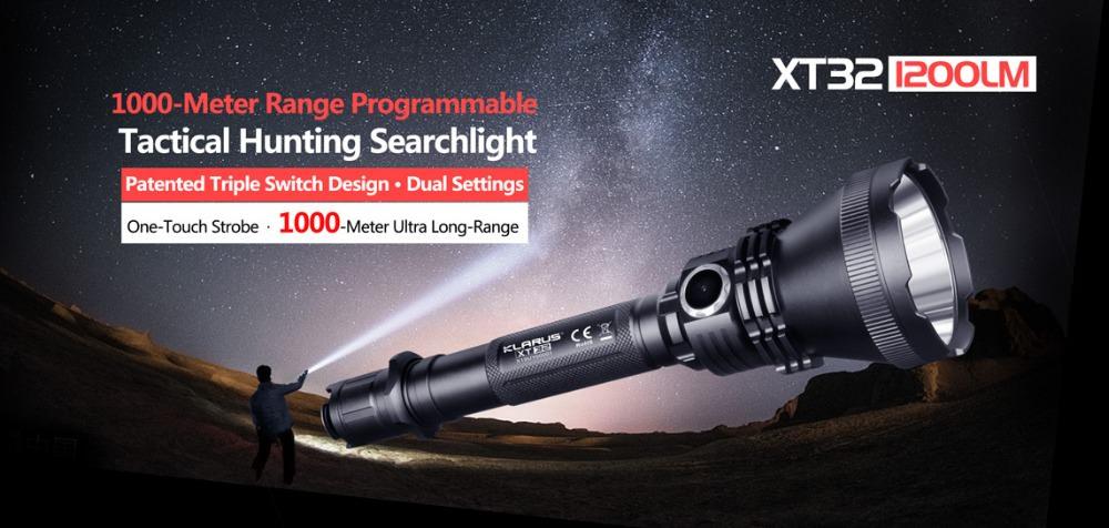klarus xt32 flashlight