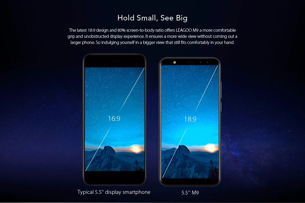 leagoo m9 3g smartphone