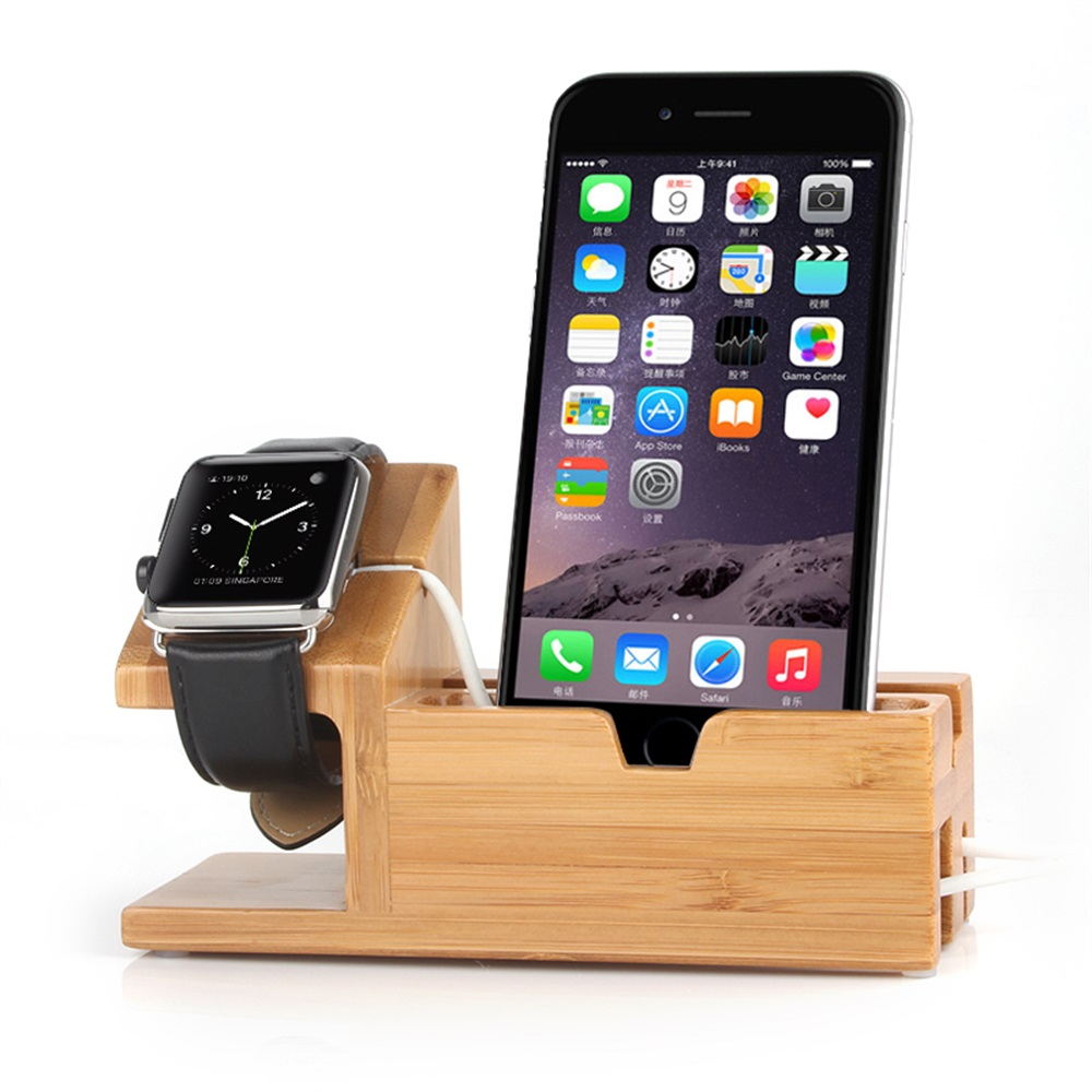 lemfo wooden charge dock station