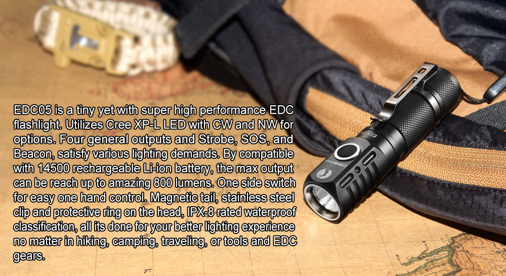 buy lumintop edc05 led flashlight