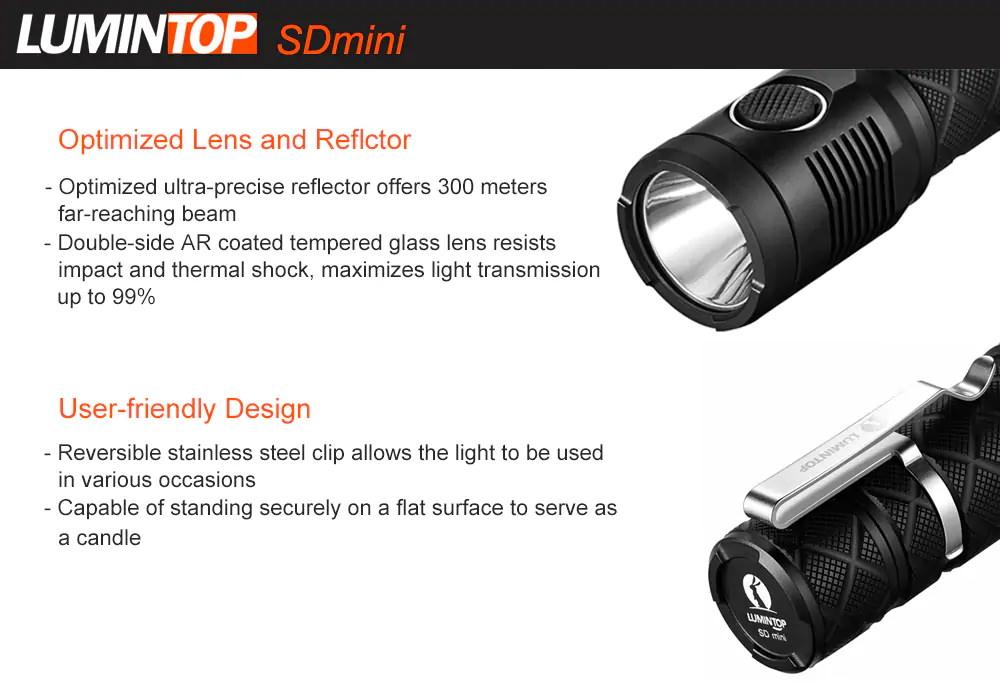 lumintop sdmini led flashlight