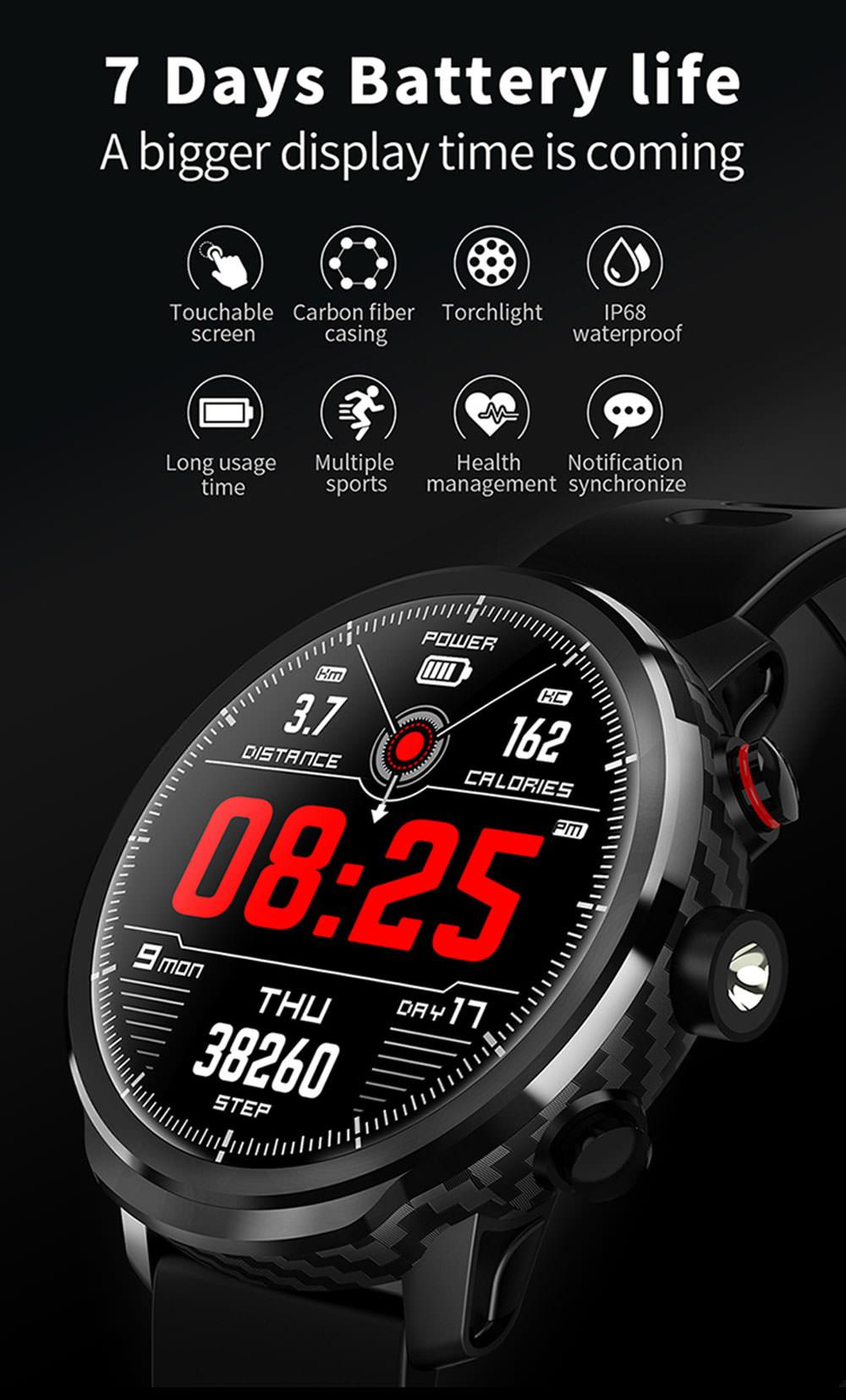 El reloj inteligente Microwear L5 tiene todas las cosas que debería tener Microwear-L5-Smart-Watch-1