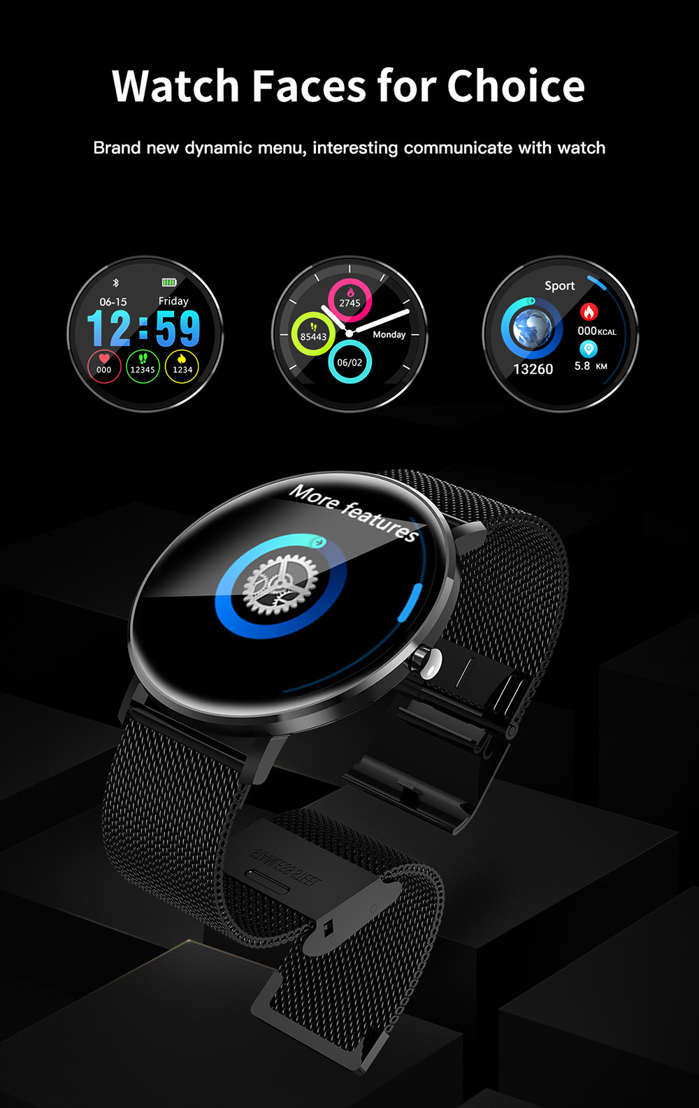 microwear l6 bluetooth smartwatch sale