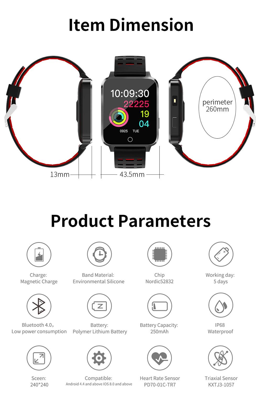 cheap microwear x9 smart bracelet