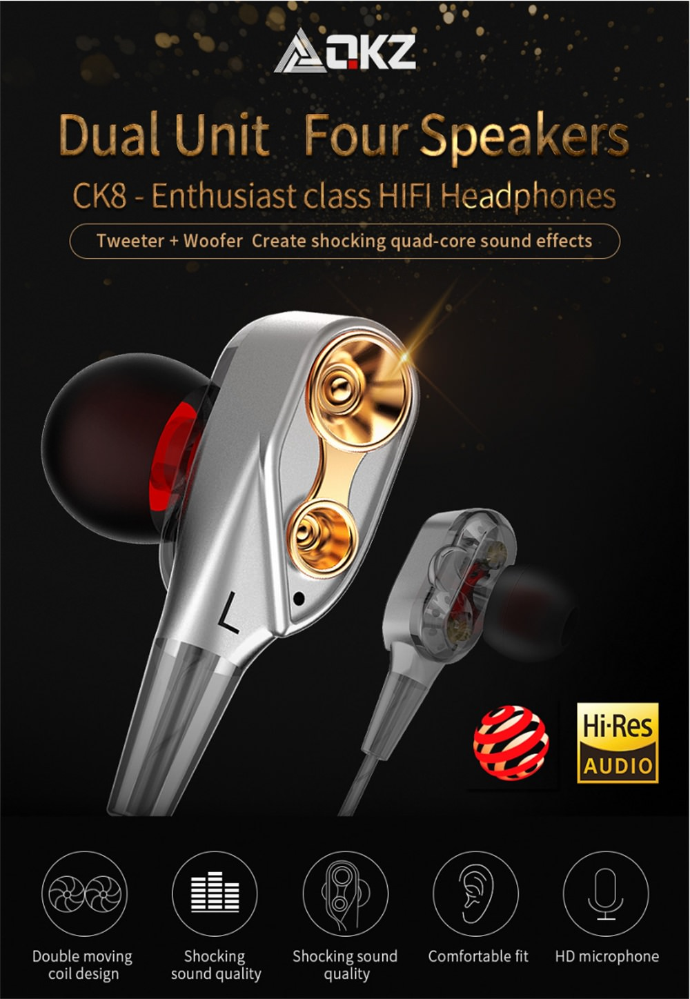 qkz ck8 earphone
