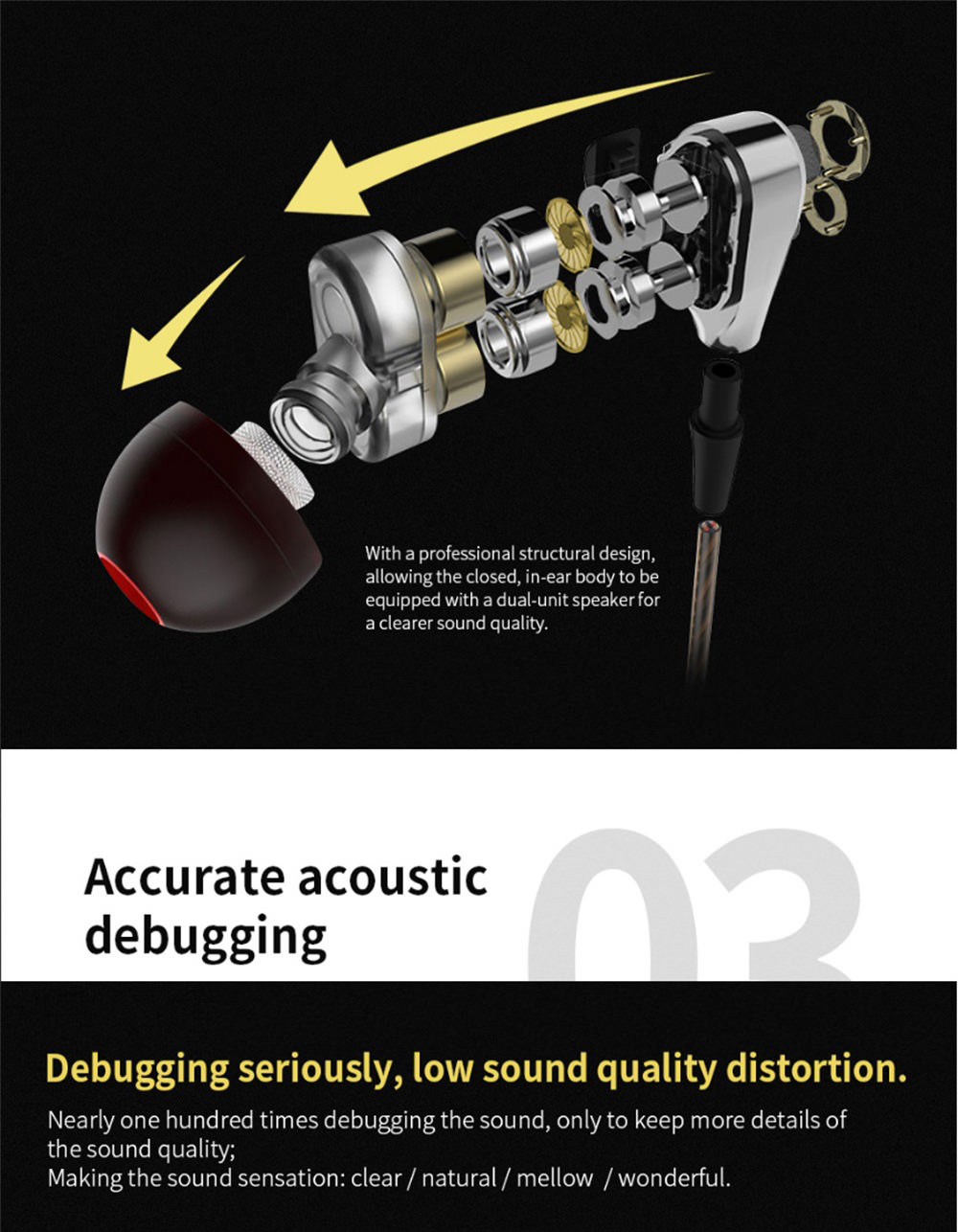 buy qkz ck8 in-ear earphone