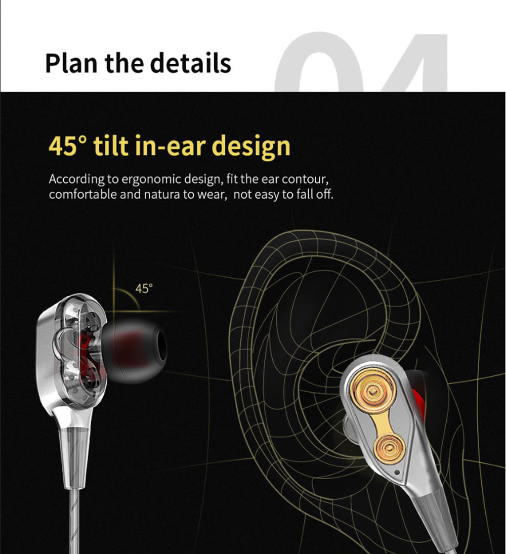 qkz ck8 hifi stereo earphone