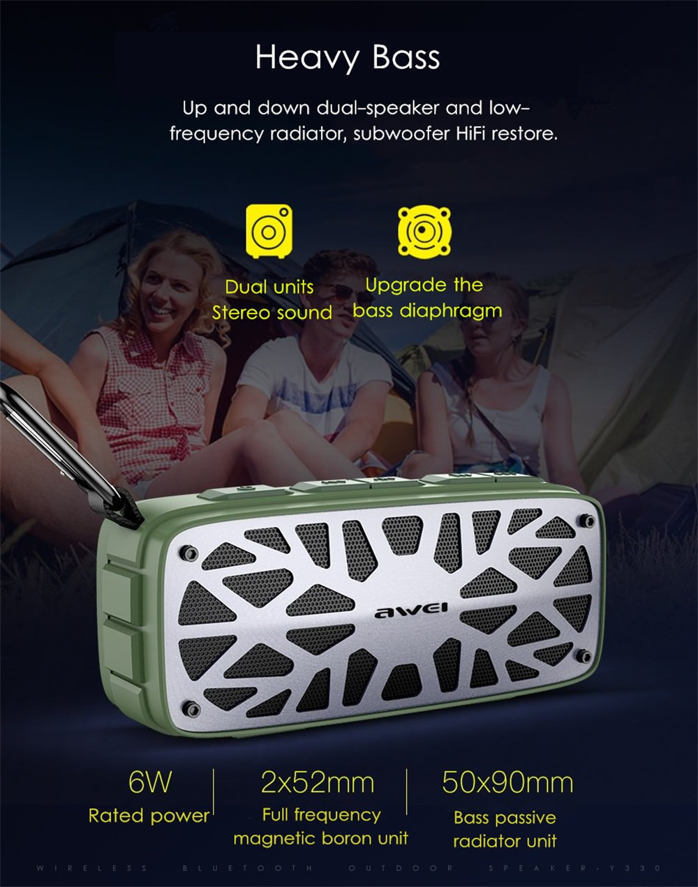 cheap awei y330 bluetooth speaker