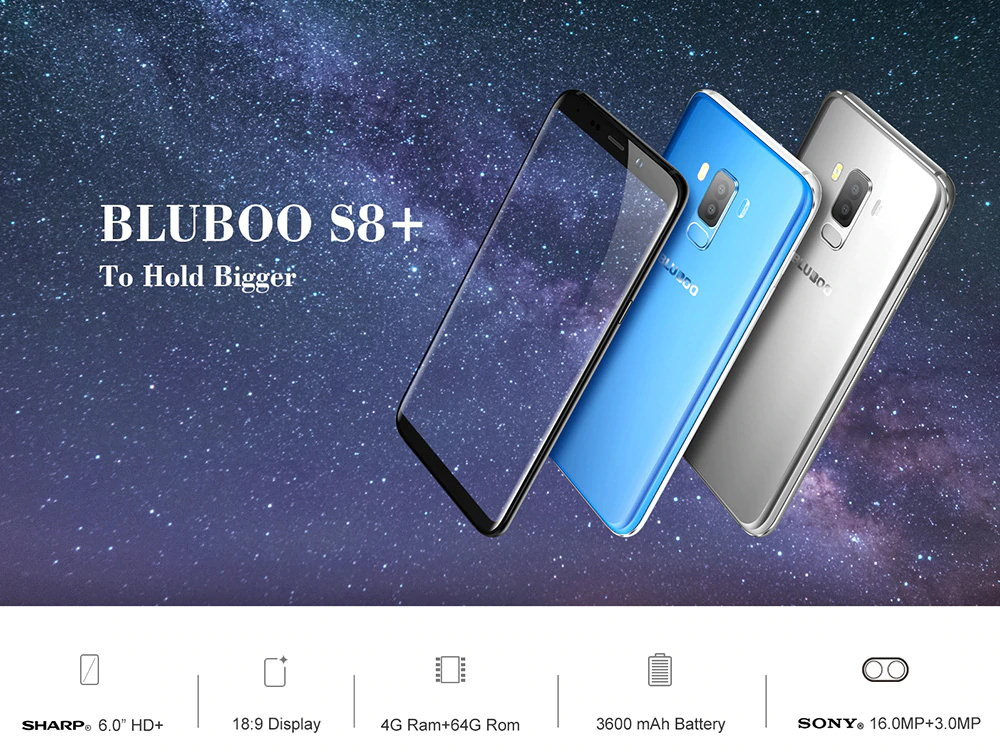 Bluboo S8 Plus - presupuesto Galaxy S8 Plus parecido S8-Plus-1