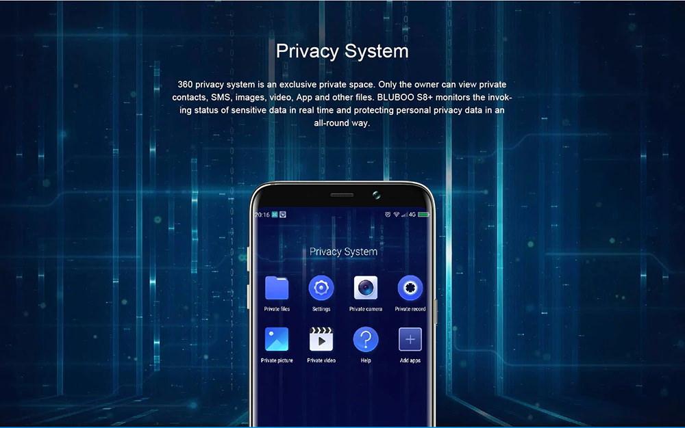 bluboo s8+ 4g smartphone