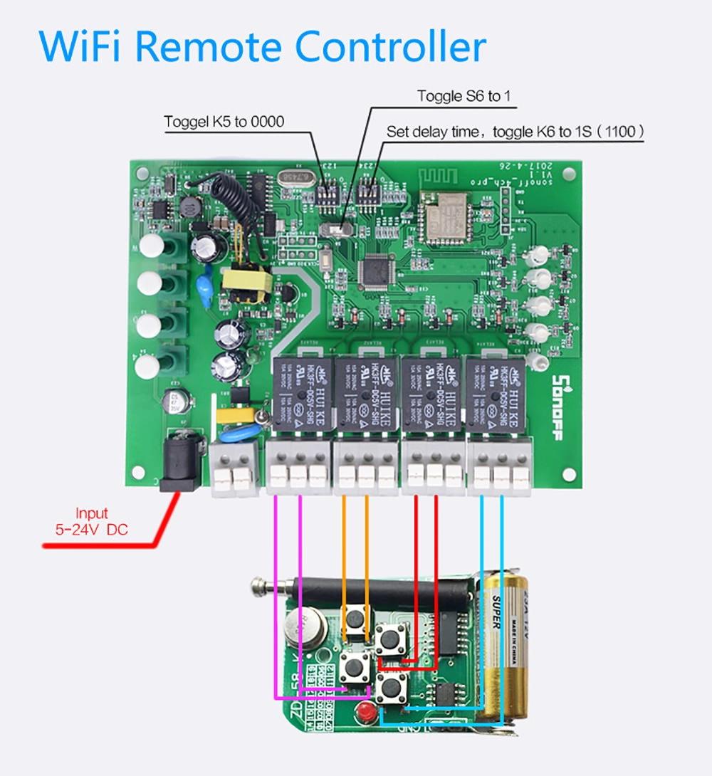 sonoff 4ch pro r2 smart wifi switch