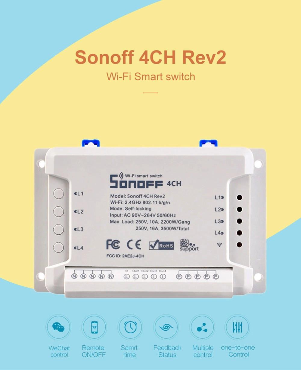 sonoff 4ch r2 smart switch