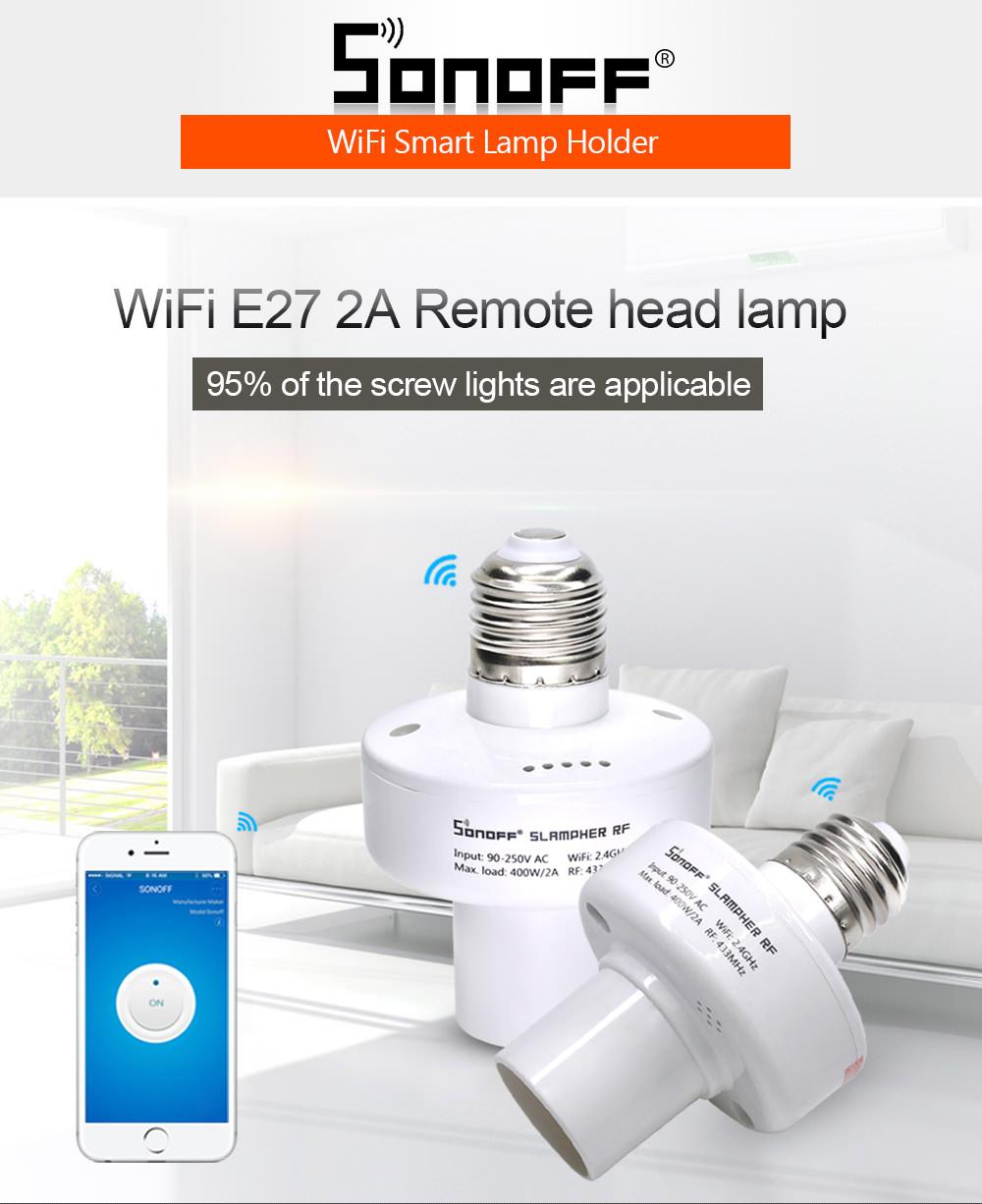 sonoff slampher rf smart lamp holder