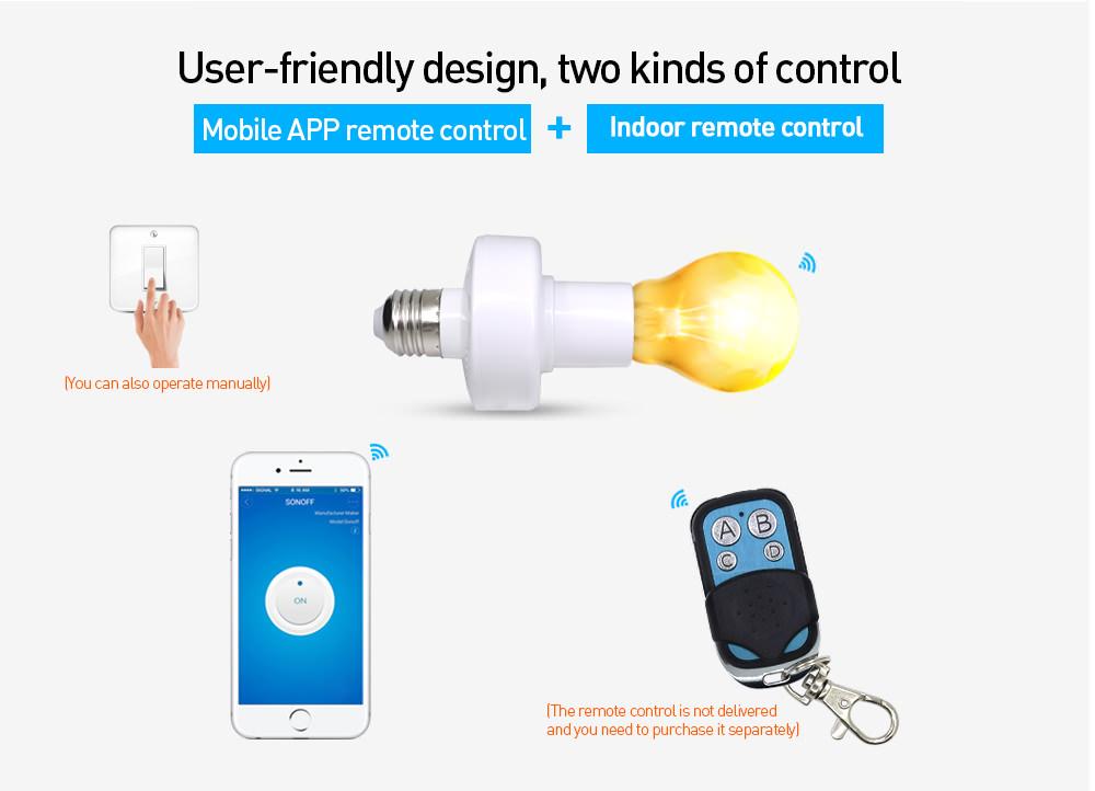sonoff slampher rf wifi smart lamp holder