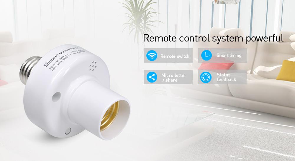 buy sonoff slampher rf wifi smart lamp holder