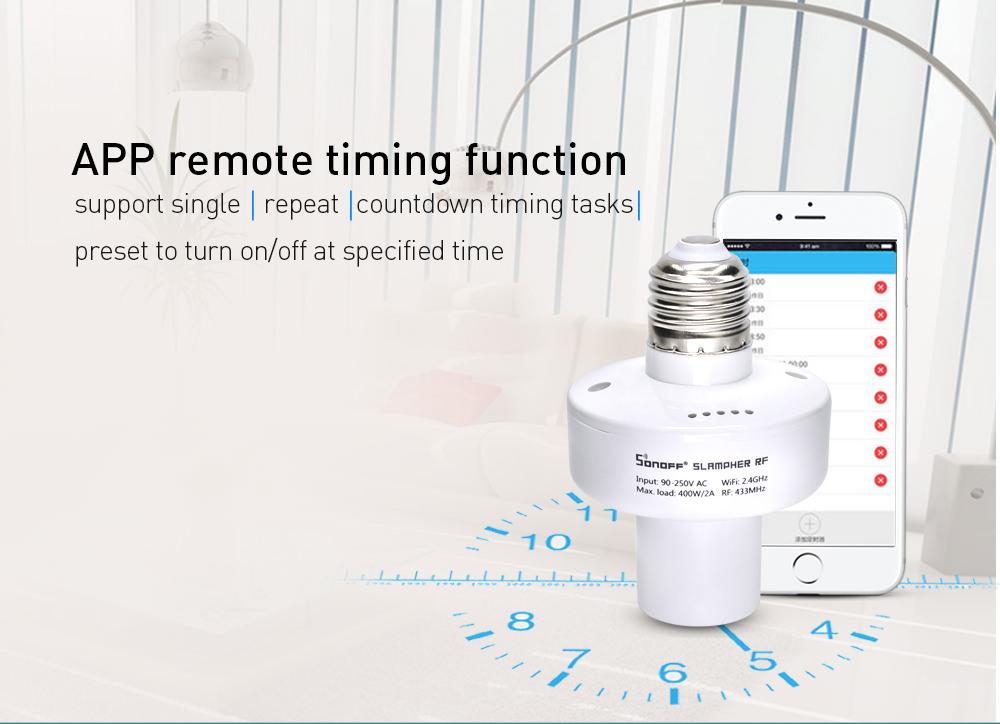 slampher rf wifi smart lamp holder