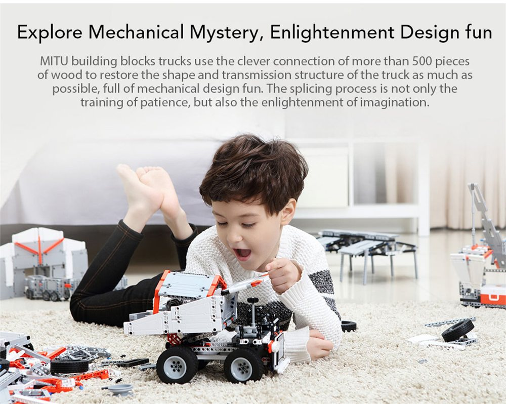 buy xiaomi mitu puzzle building block truck