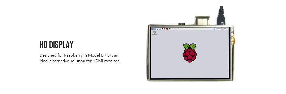 raspberry pi 3b+ display