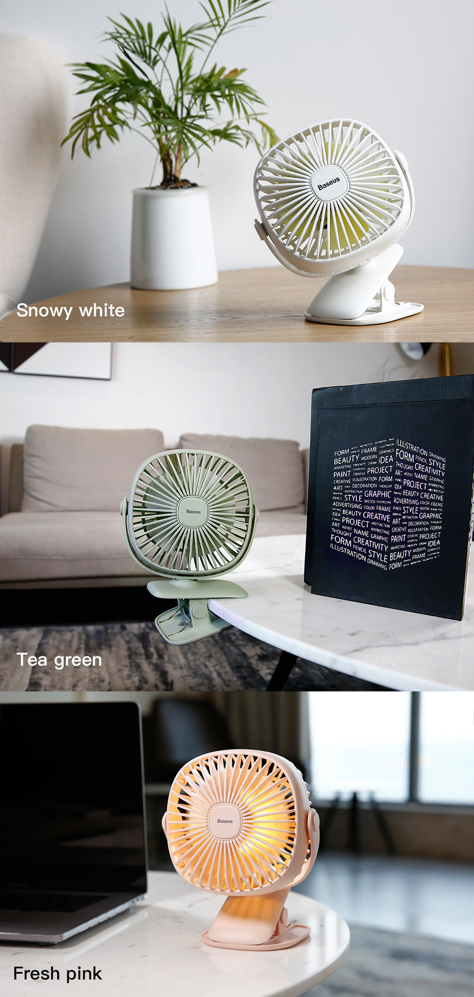 buy baseus rechargeable box clamping fan